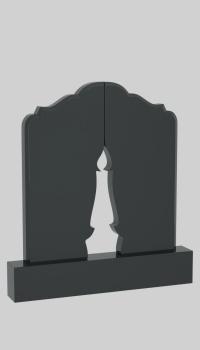 Памятник с крестом на просвет Кронштадт Лампадка из габбро-диабаза резная Театральная